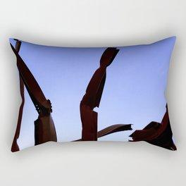 Sculpture and Sky Rectangular Pillow