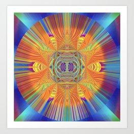 Healing Visionary Spark Mandala Art Print