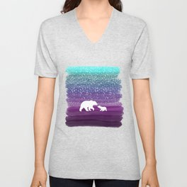 Bears from the Purple Dream Unisex V-Neck