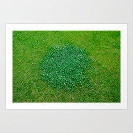 The grass is green Art Print