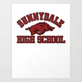 Sunnydale High Razorbacks Art Print