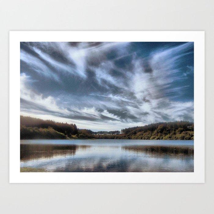 Wistlandpound Devon Art Print