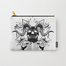 Rock Horned Skull Graphic  Carry-All Pouch