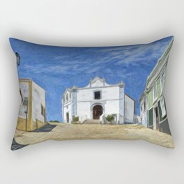 Portuguese village street scene Rectangular Pillow
