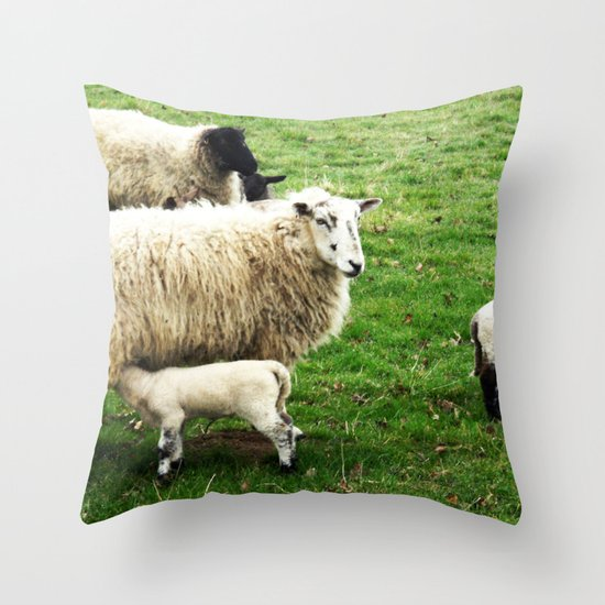 We Like Sheep Throw Pillow