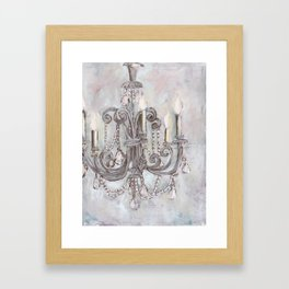 Silver Chandelier Framed Art Print