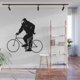 Bigfoot  riding bicycle Wall Mural