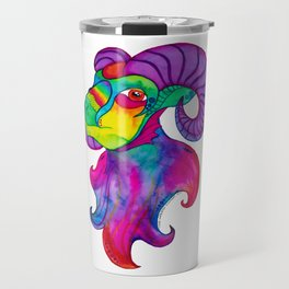 Rainbow Big Horn Sheep Travel Mug