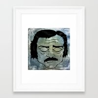 edgar allen poe Framed Art Prints featuring Poe by Art by Ash
