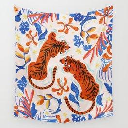 Tiger Swim Wall Tapestry
