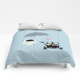 true love.. walle and eve  Comforters