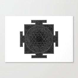 Space Sri Yantra Mandala Canvas Print