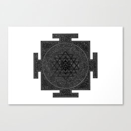 Space Sri Yantra Mandala Canvas Print