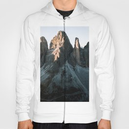 Tre Cime in the Dolomites Mountains at dusk - Landscape Photography Hoody