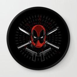 Mercenary weapons Wall Clock