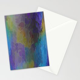 Rainbow Mosaic Abstract Stationery Cards