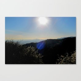 Los Angeles view from Runyon Canyon Canvas Print