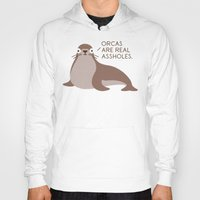 seal Hoodies featuring Seal of Reproval by David Olenick
