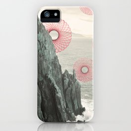Spirograph Neahkahnie Headland Spires iPhone Case