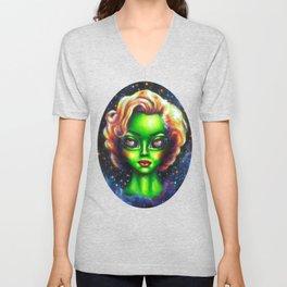 Iconic Alien Women: Marilyn Unisex V-Neck