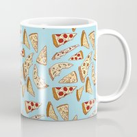 tumblr Mugs featuring Pizza Tumblr by Hipster's Wonderland
