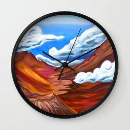 Together At Haleakalā Wall Clock