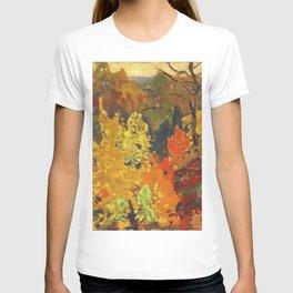 Canadian Landscape Oil Painting Franklin Carmichael Art Nouveau Post-Impressionism Autumn T-shirt