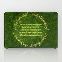the lord of the rings iPad Cases featuring THE LORD OF THE RINGS by Bilqis