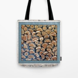 FIREWOOD WAITING IN THE WOODSHED Tote Bag
