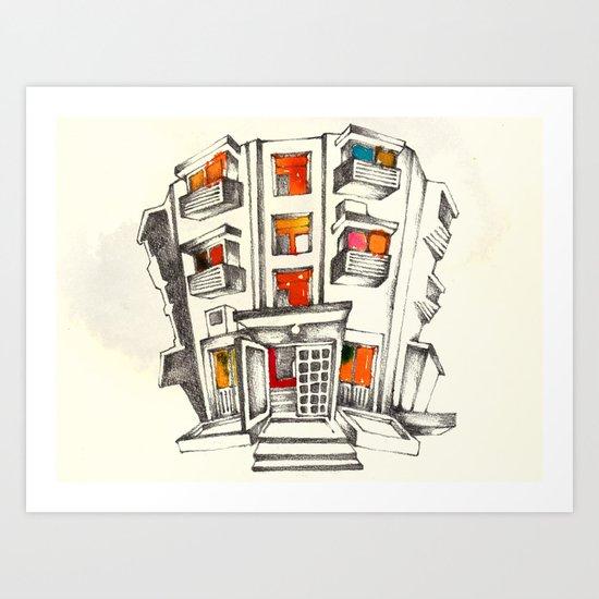 Japanese building Art Print