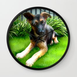 Lua the cutest GS Pup Wall Clock