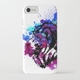 Purple Lion Spirit iPhone Case