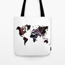 Fractal world map Tote Bag