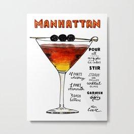 The Drink Collective: Manhattan Metal Print
