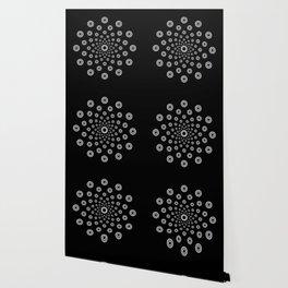 Blizzard Radiating White Circles Design On Black Wallpaper