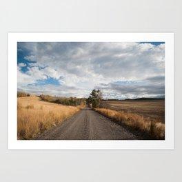 A cloudy drive Art Print