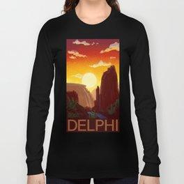 Sixty-Four: Delphi Travel Poster Long Sleeve T-shirt