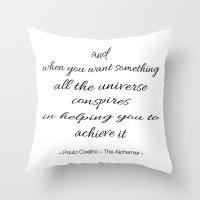 fullmetal alchemist Throw Pillows featuring The Alchemist by Pink Milkshake Designs