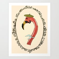 The fifth one ended up in France. Art Print