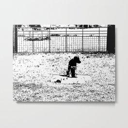 Pensive Pup Metal Print