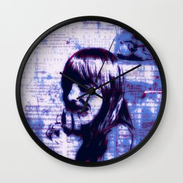 Mitchell Moves Leave Her Hit Blue Wall Clock