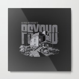 Psycho House w/ Title Metal Print