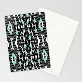 Art Deco Mint Stationery Cards