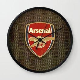 FC Arsenal metal background Wall Clock