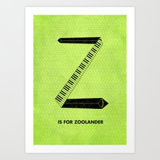 Z is for Zoolander Art Print