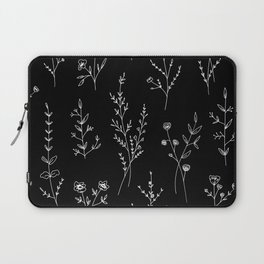 New Black Wildflowers Laptop Sleeve