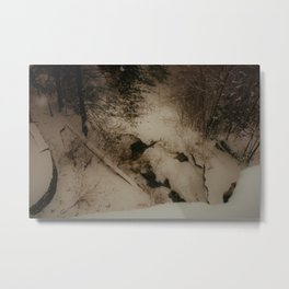 Winter Cave Metal Print