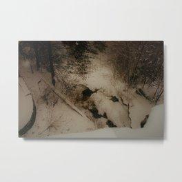 Winter Cave Metal Print