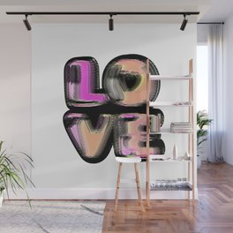 Glitch #love #gimp #typography #lettering #buyart #society6 Wall Mural