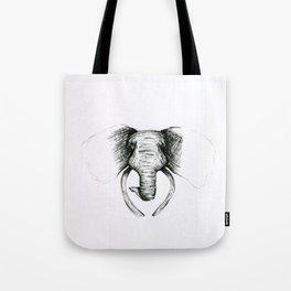 Sketch Elephant Tote Bag